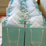 The gorgeous gift bags each guest took away with them